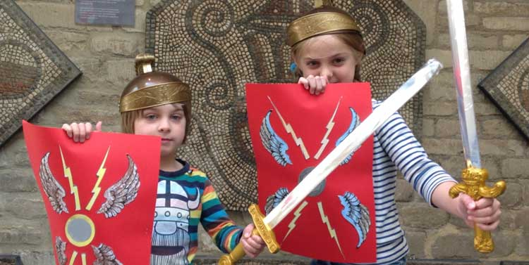 Make a Roman shield to take home at the Corinium Museum
