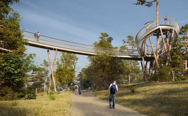 Artists Impression of the Treetop Walkway at Westonbirt Arboretum