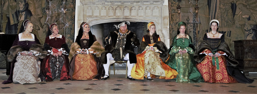 Henry VIII and his six wives at Berkeley Castle