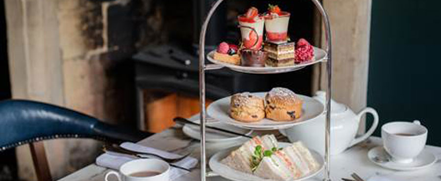 Afternoon tea at the Lygon Arms