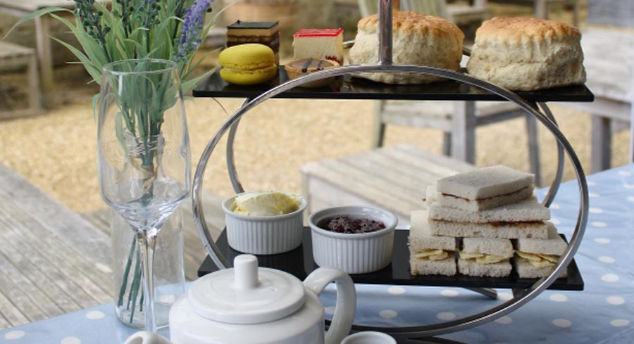 Afternoon tea at Sudeley Castle