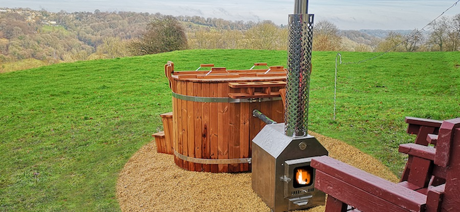 Westley Farm - a hot tub with a view!