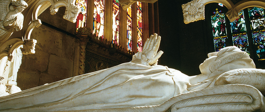 Katherine Parr's tomb at Sudeley Castle