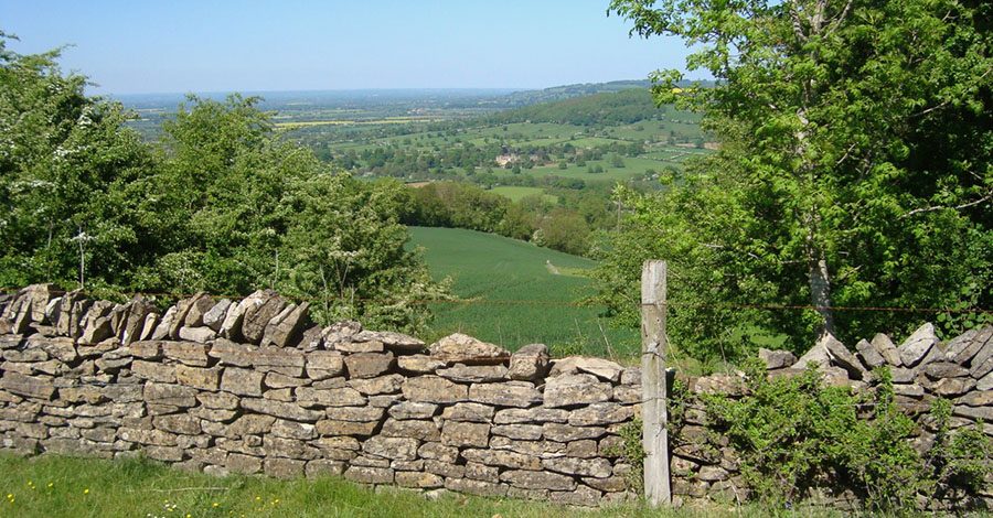 View from above Winchcombe