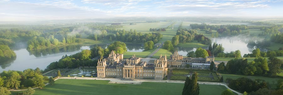 An aerial view of Blenheim Palace