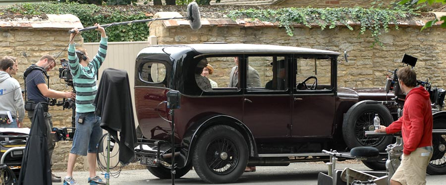 Filming Downton Abbey in Bampton (photo courtesy of James Wildman)