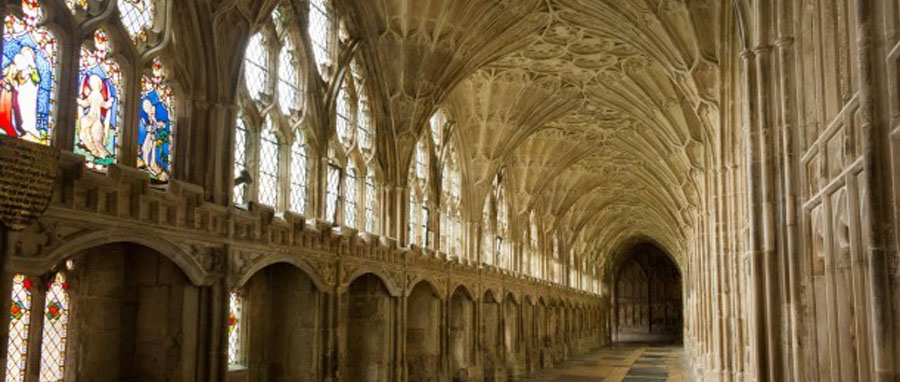 Gloucester Cathedral cloisters featured in the Harry Potter films