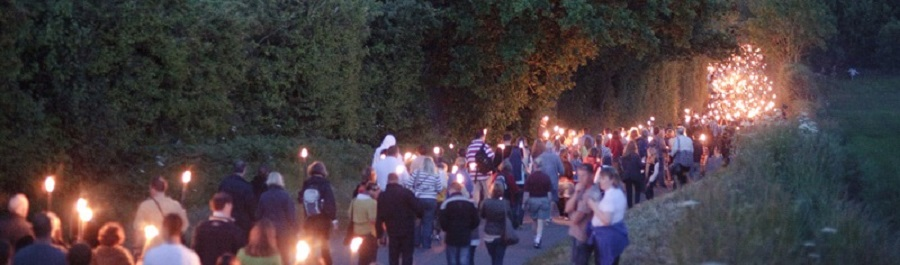 The torch lit procession back to Chipping Campden