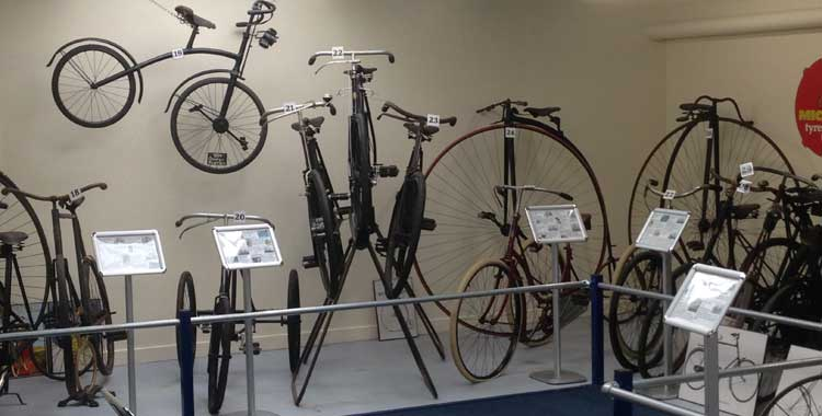 Vintage Bikes at the Oxford Bus Museum