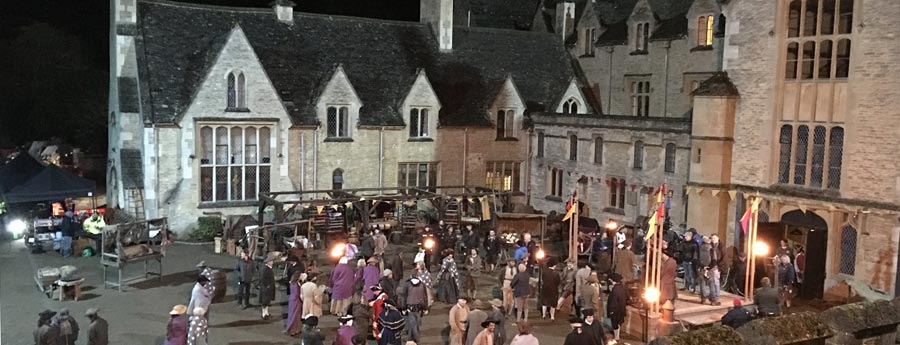 Filming Poldark at the Royal Agricultural University in Cirencester