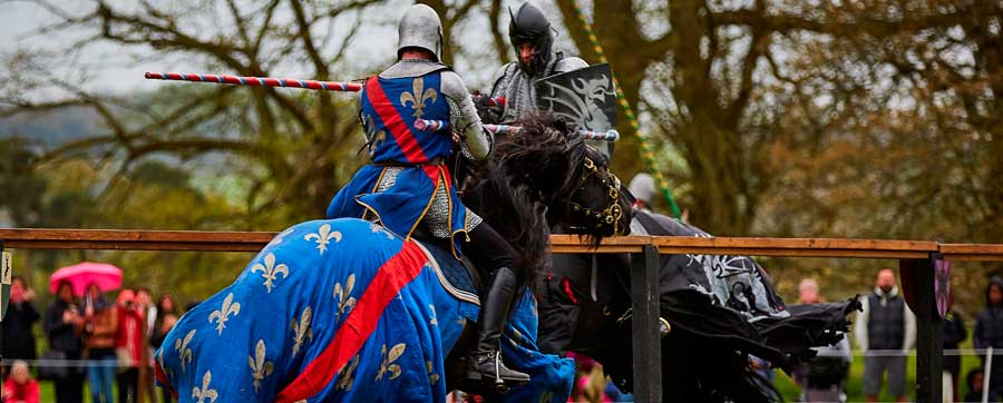Jousting at Sudeley Castle (photo by John Ord)