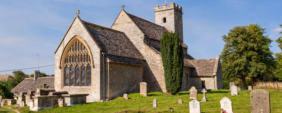 Swinbrook Church - featured for the christening scene in the Bridget Jones's Baby