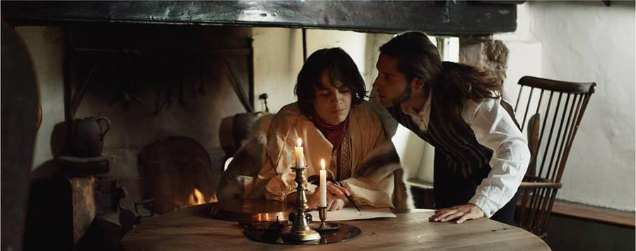 Wuthering Heights being filmed at The Fleece Inn in Bretforton