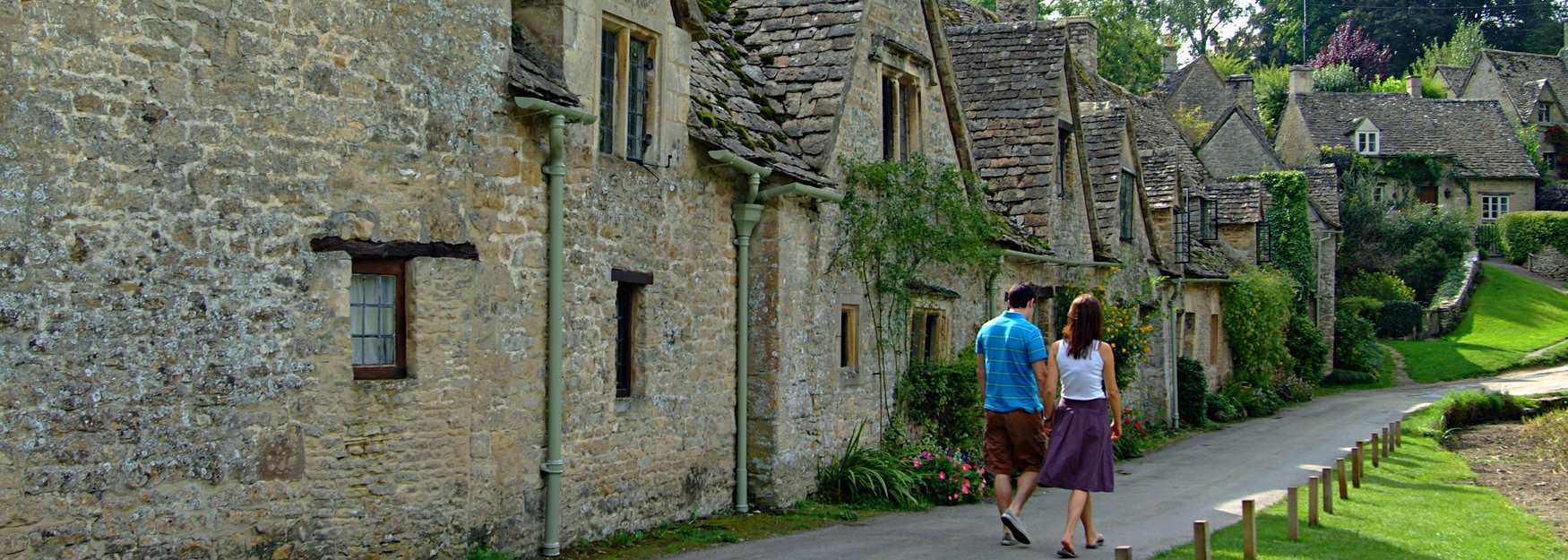 Walkers in Bibury