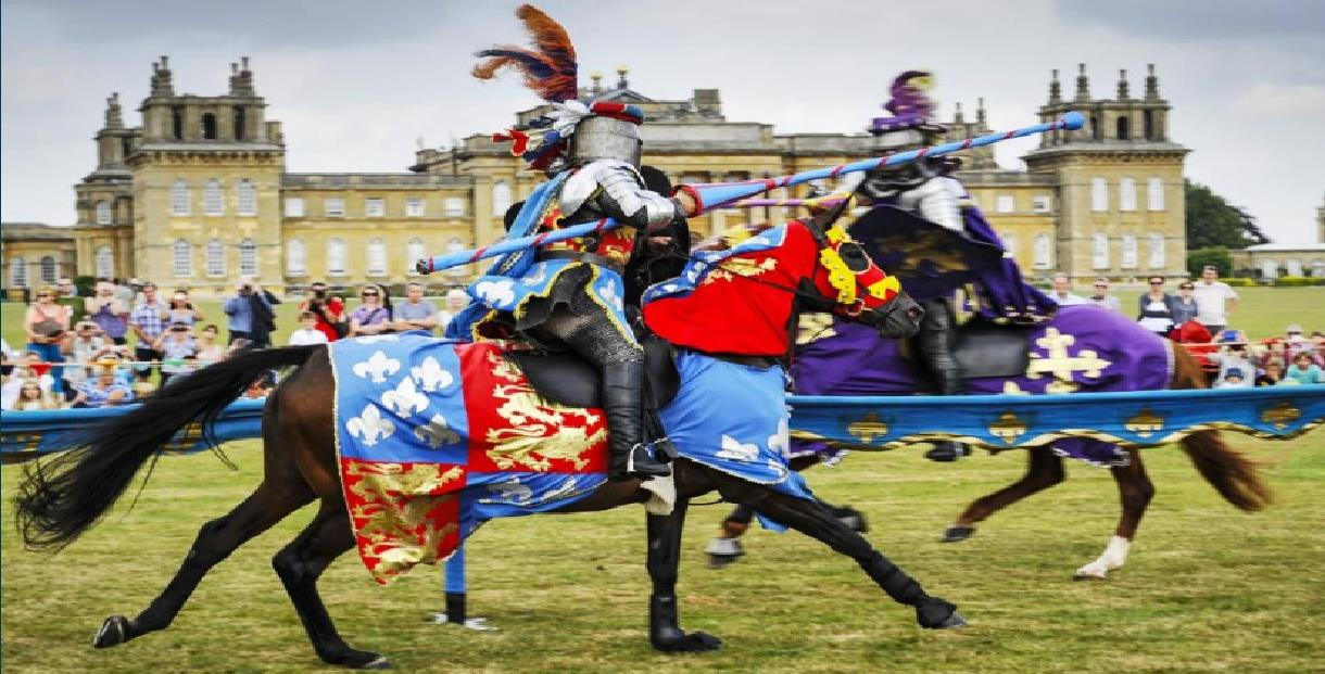 summer jousting tournament demonstration in woodstock cotswold