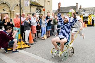 The Bampton Shirt Race - just one of the Cotswolds quirky events
