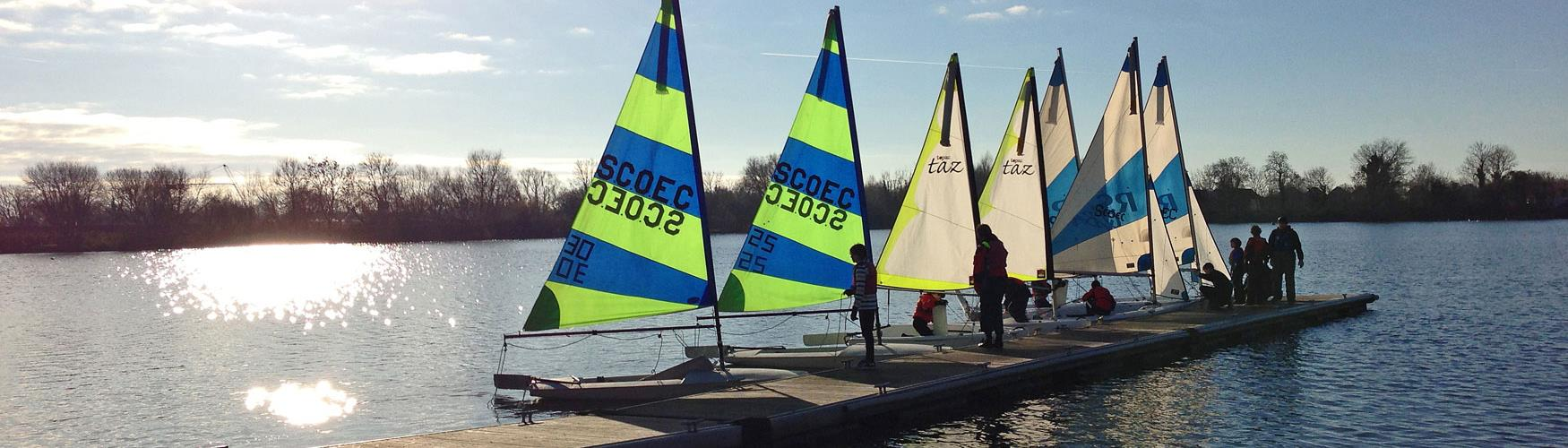 Sailing at Cotswold Water Park