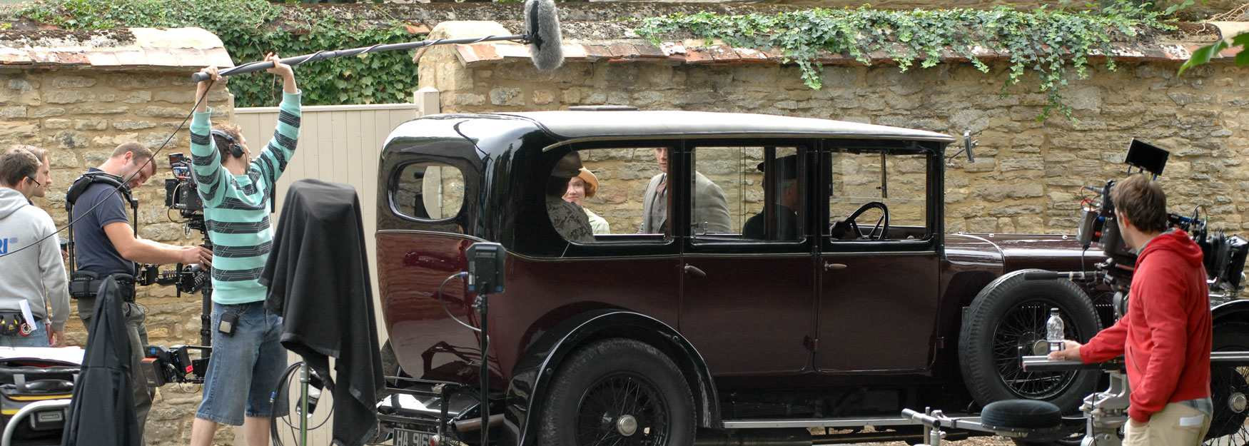 Filming Downton Abbey in Bampton (photo credit James Wildman)