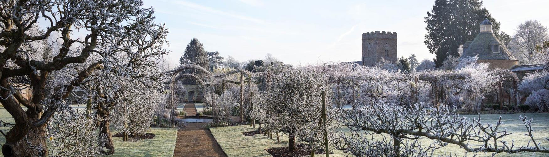 A frosty morning in the gardens of Rousham (photo Andrew Lawson)