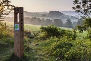 Laurie Lee Wildlife Walk trail in the Slad Valley