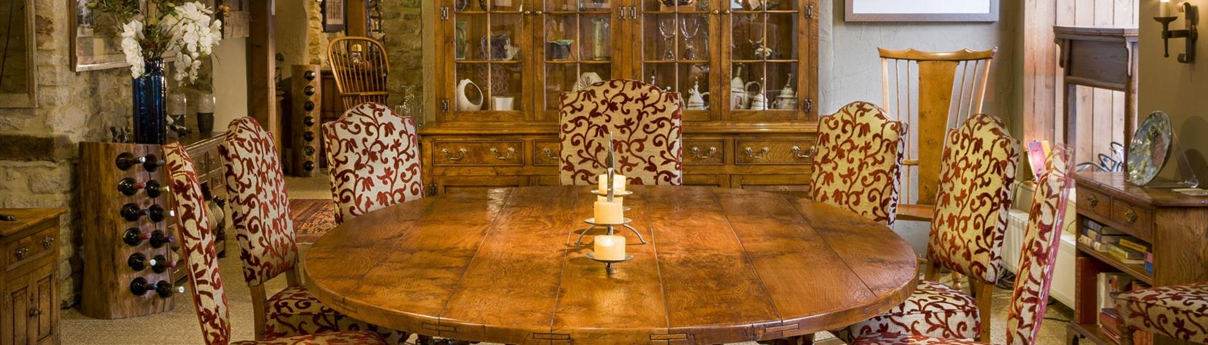 Art and antiques in the Cotswolds - Real Wood Furniture Company dining table
