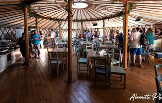 The Yurt Tea Rooms at Berkeley Castle