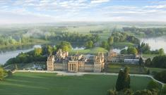Aerial view of Blenheim Palace