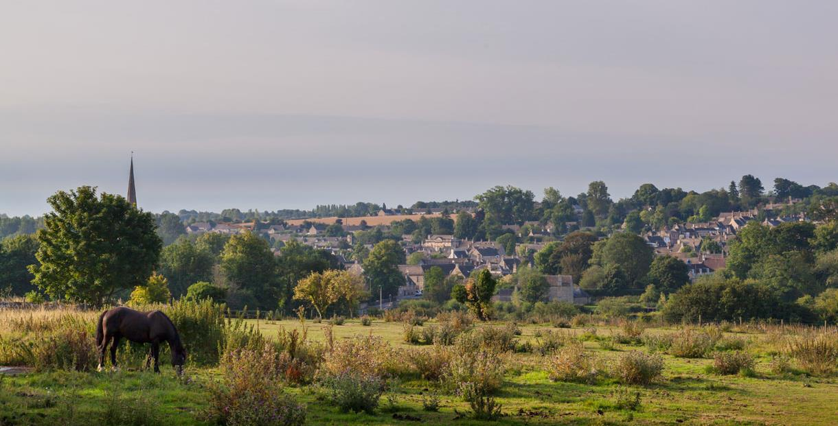 View towards Burford