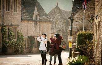 Visitors in Castle Combe