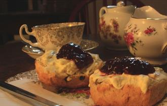 Diversitea Café - a cream tea!