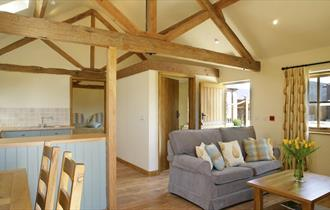 Grange Farm Country Cottages - the living area in Nine Acres