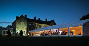 Wyck Hill House Hotel with wedding marquee
