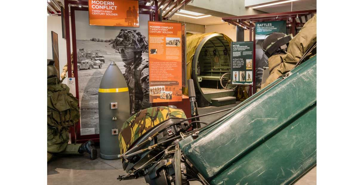 Soldiers of Oxfordshire Museum - Modern Conflicts displays