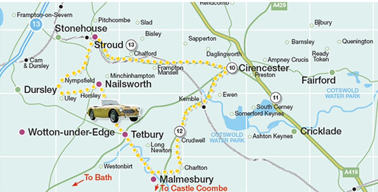Cotswold Driving Tour Map